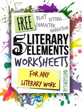 5 Literary Elements Worksheets For Educators Pinterest