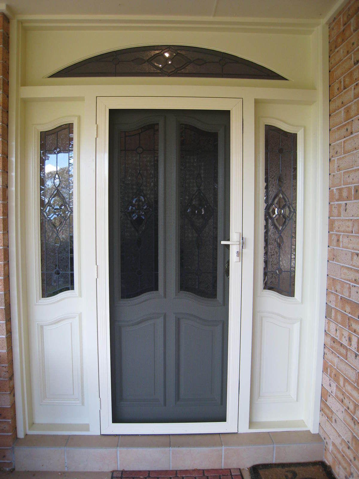 Steel Doors for Security Security screen door, Screen