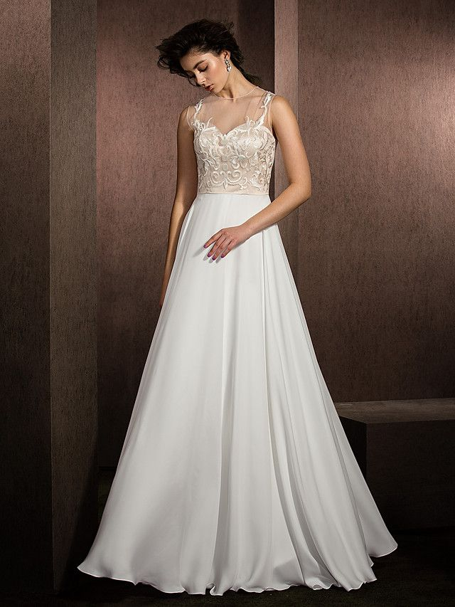 45fccb2e214 Lanting Bride® A-line Petite   Plus Sizes Wedding Dress Floor-length Jewel