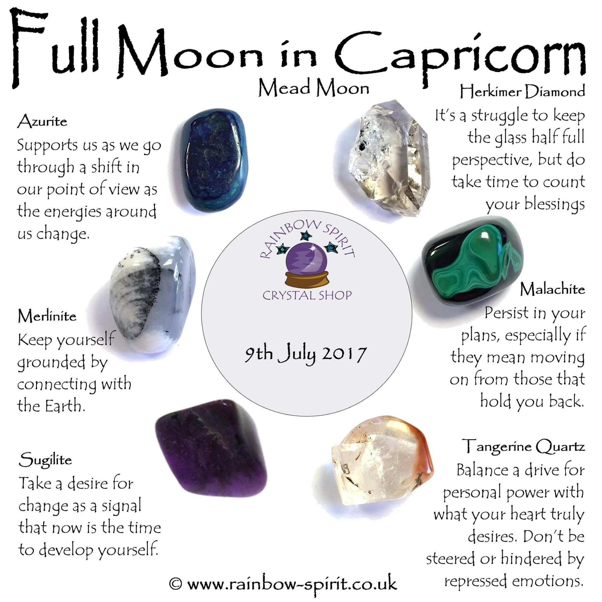 Full Moon Capricorn Crystals | Capricorn moon, Stones and ...