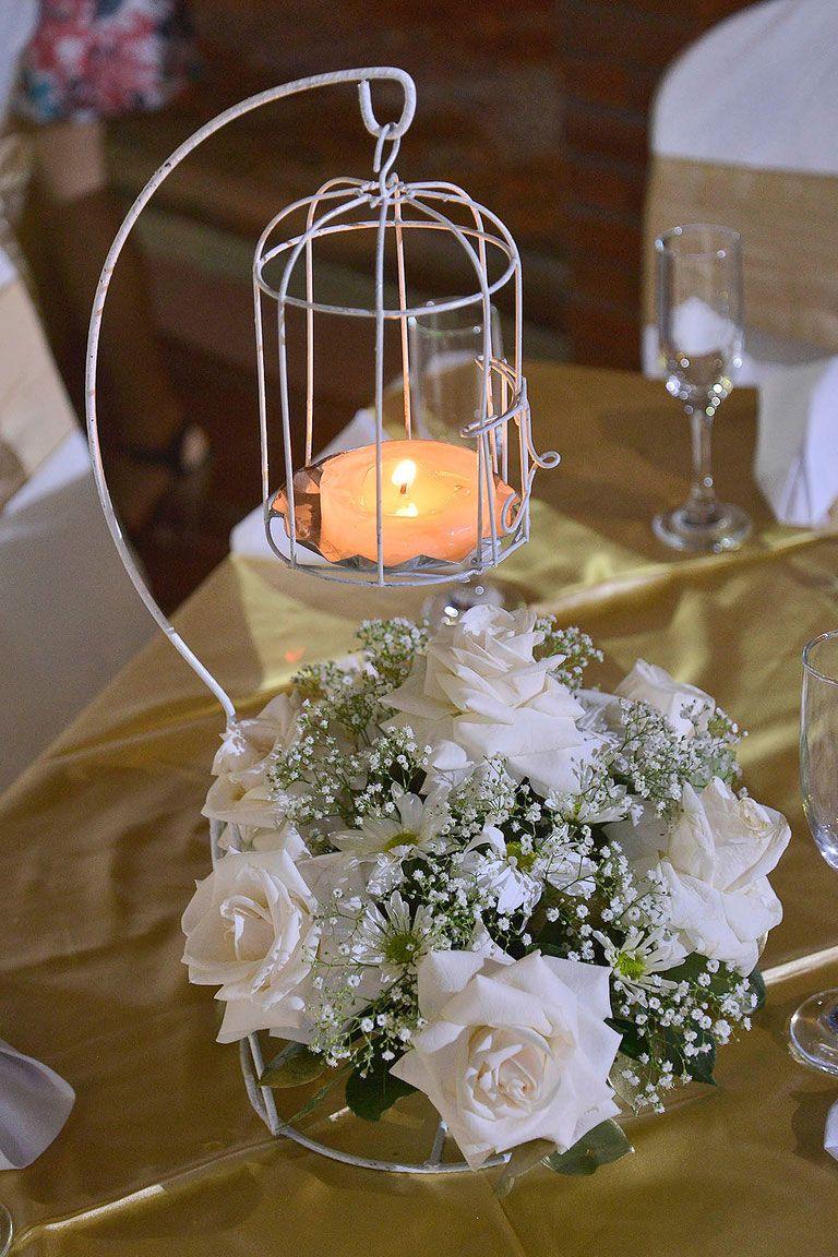 Centro de mesa jaula flores pinterest jaulas - Decoracion para mesas de centro ...