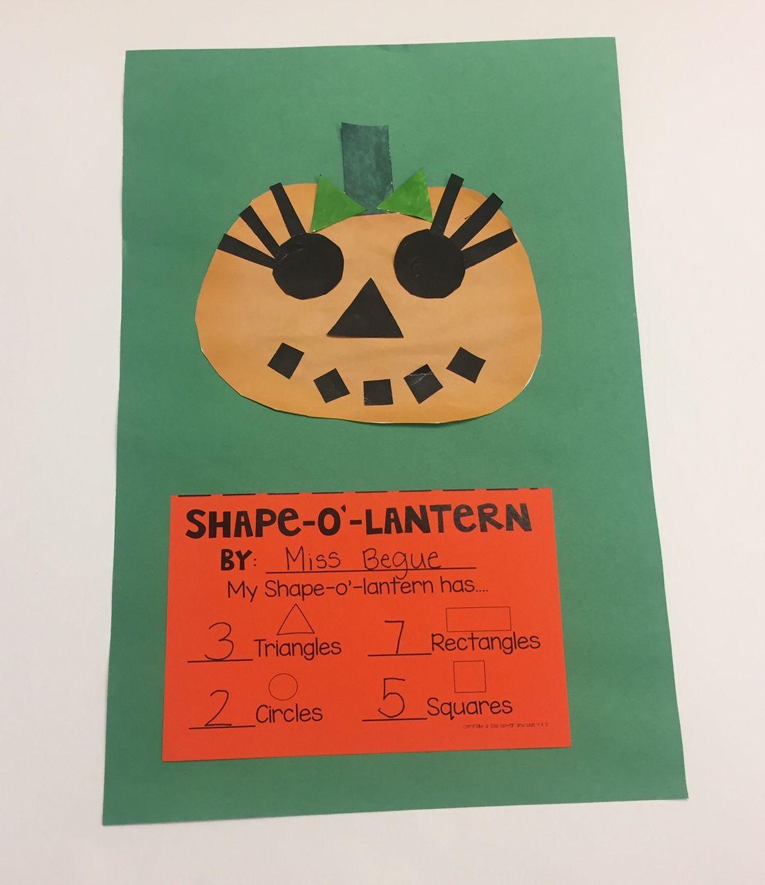Shape O Lantern Craftivity To Reinforce Shape