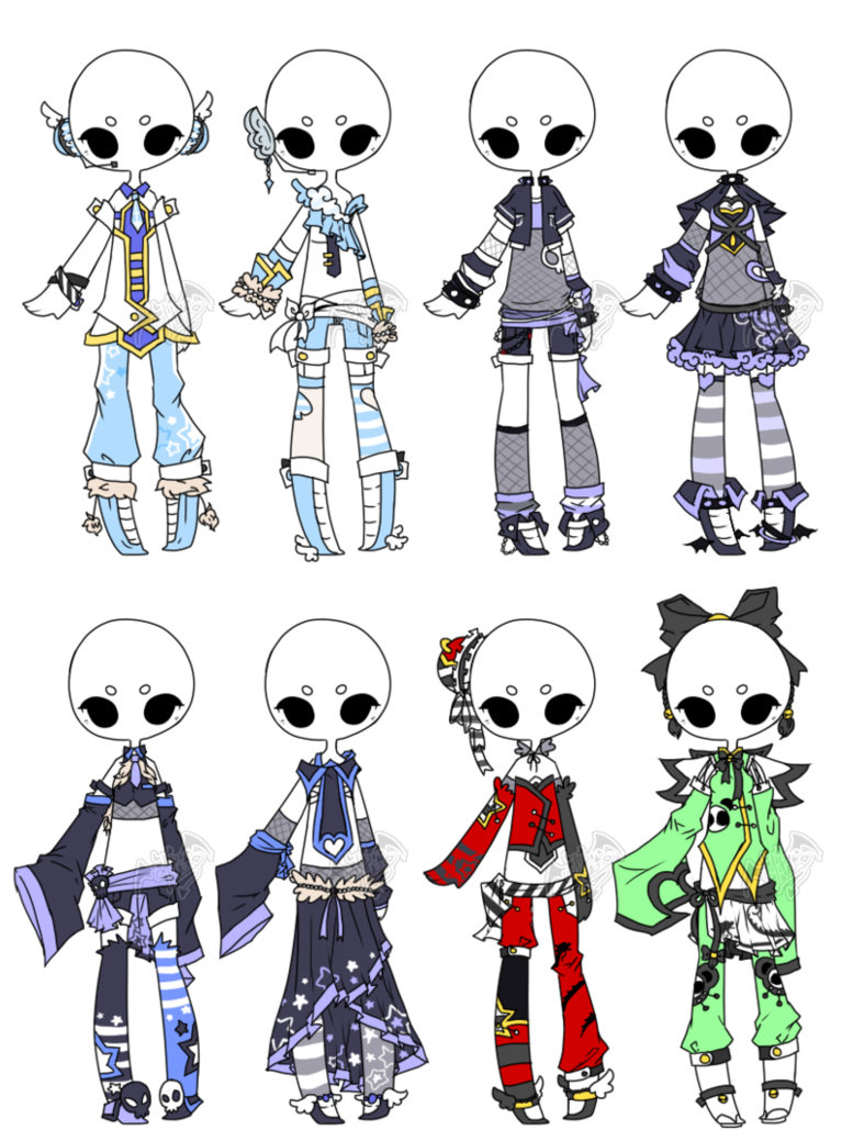.Adopted. Outfit Batch 03 by DevilAdopts on DeviantArt