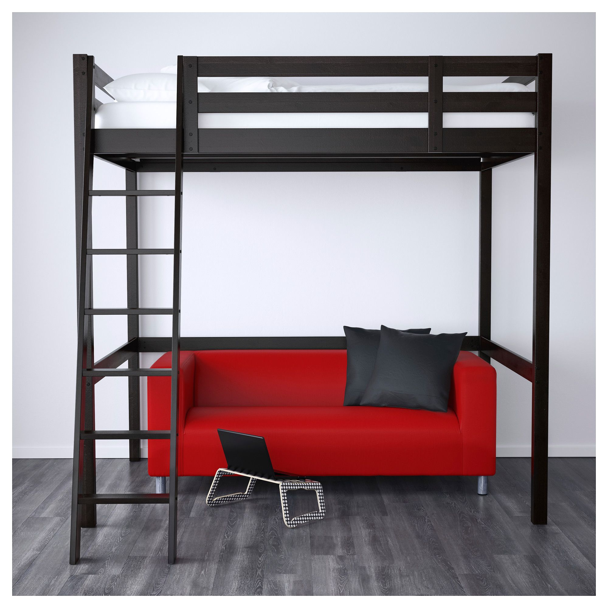 Black Loft Bed Ikea StorÅ Loft Bed Frame Black Ikea Dreamboard