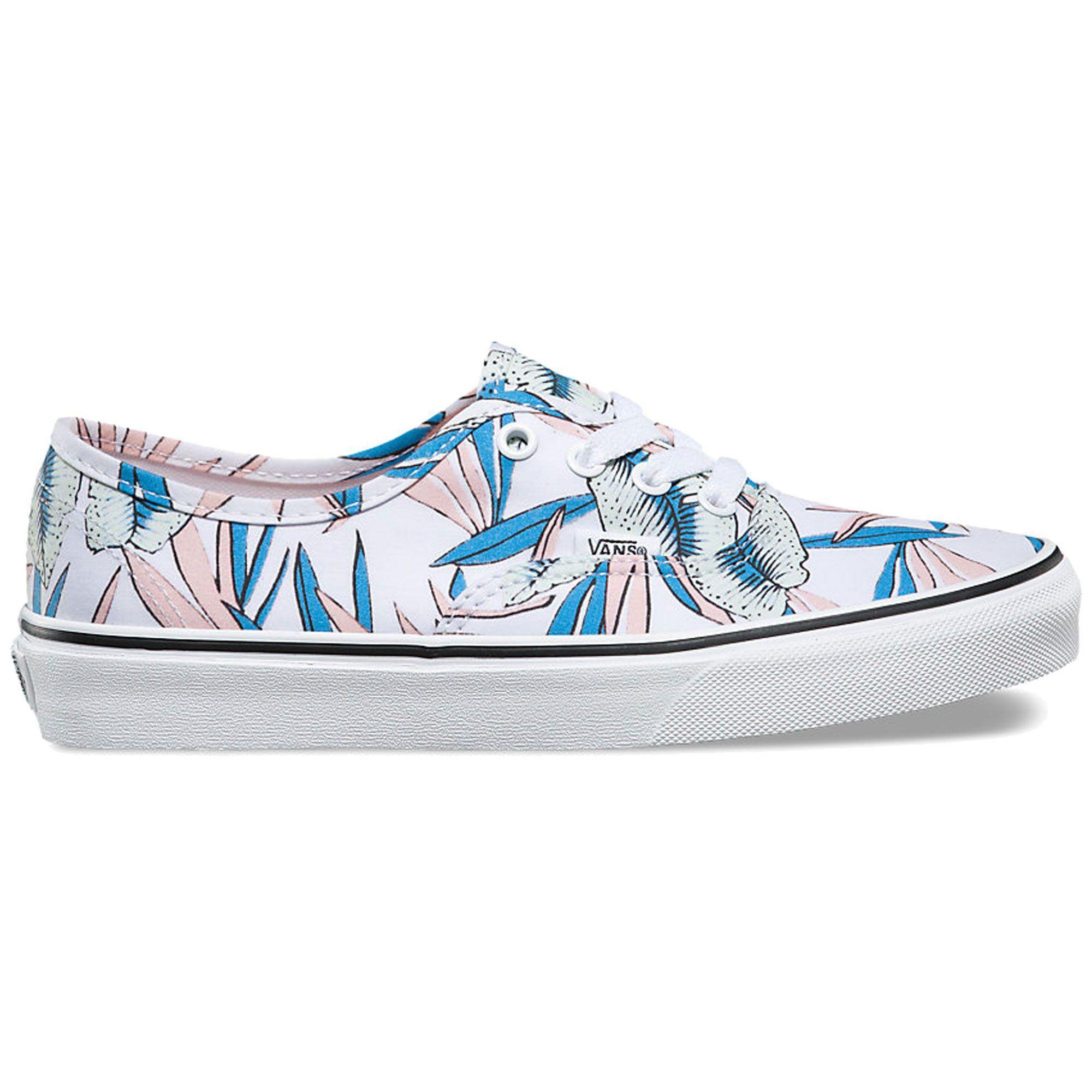 VANS Tropical Leaves/White Authentic Canvas Shoe
