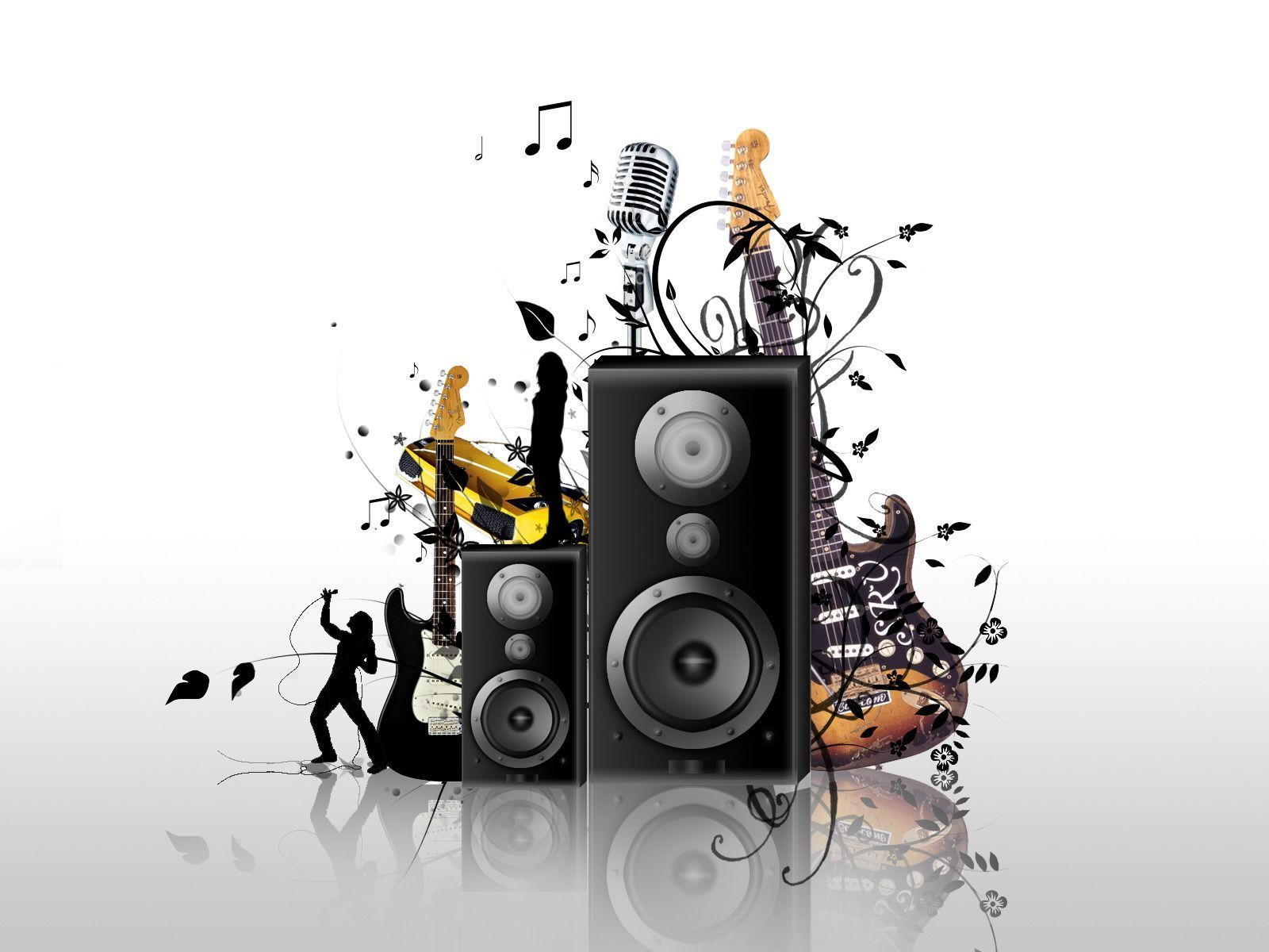Abstract Music Wallpapers Background White 1839 Wallpaper