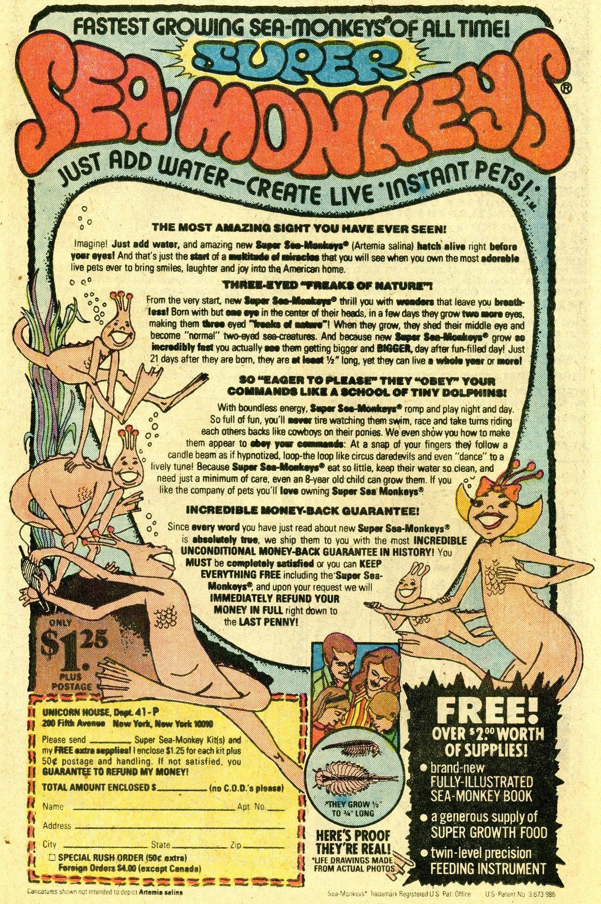 Sea Monkeys Book Advertising Sea Monkeys My Childhood Memories