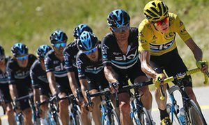 'Team Sky show power of the pack is key to Tour de France dominance.' Chris Froome leads his Team Sky team-mates on stage 16 of the 2016 Tour de France.