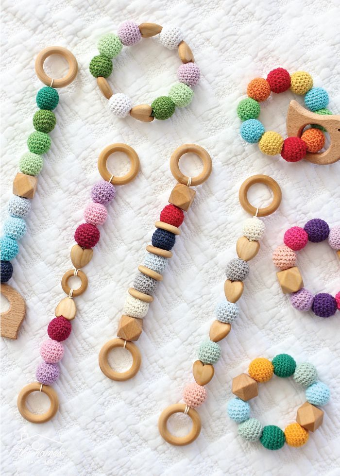 DIY Wood and Bead Baby Teethers