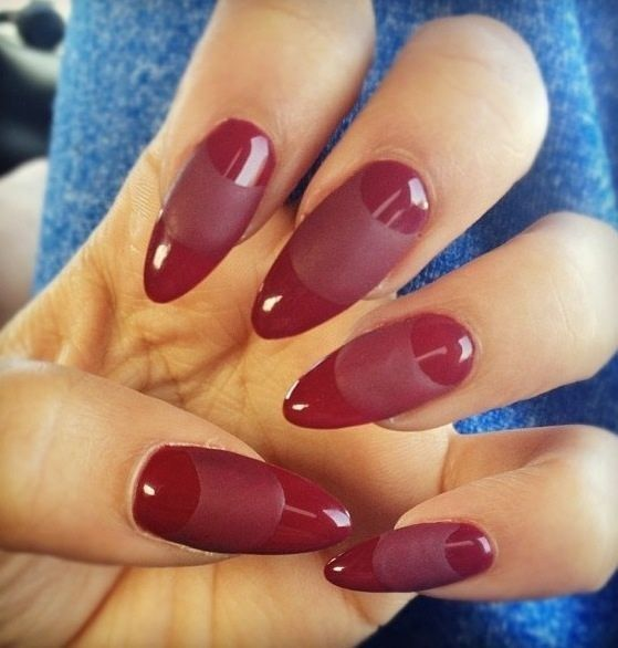 Nails, love the red matte and gloss but not keen on the shape.