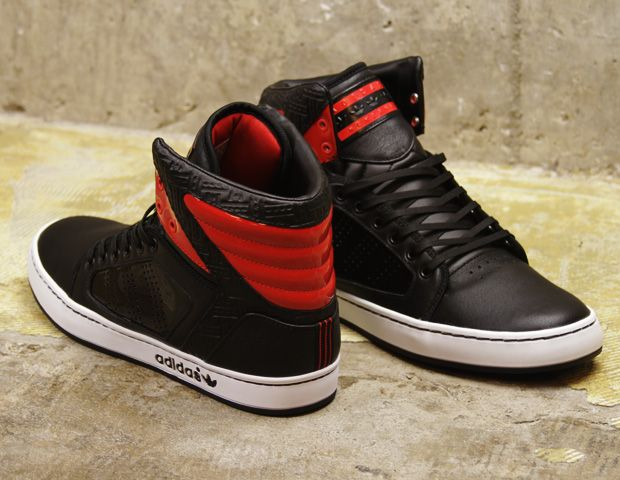 timeless design 1182c 1ea0c Adidas Originals Adi High EXT BlackLight Scarlet-White usually dont rock  adidas, but these drose inspired ones are kinda cool