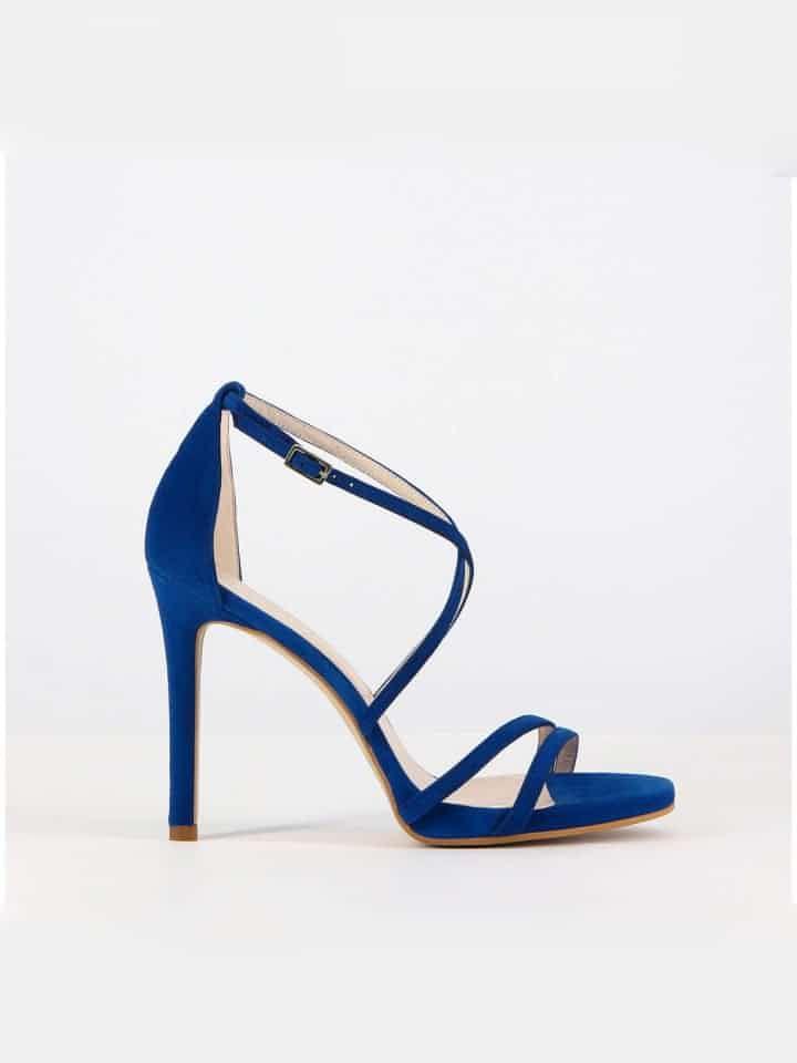 Sapato Scarpin Salto Alto Gisela Costa Azul Gisela Costa