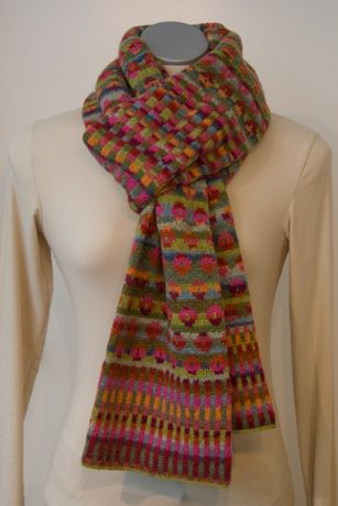 kit for knitting this fair isle scarf for sale - beautiful ...