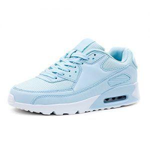 Marimo Trendige Damen Laufschuhe Schnür Sneaker Sport Fitness Turnschuhe  Glitzer Blau 38 51ca7bbd030
