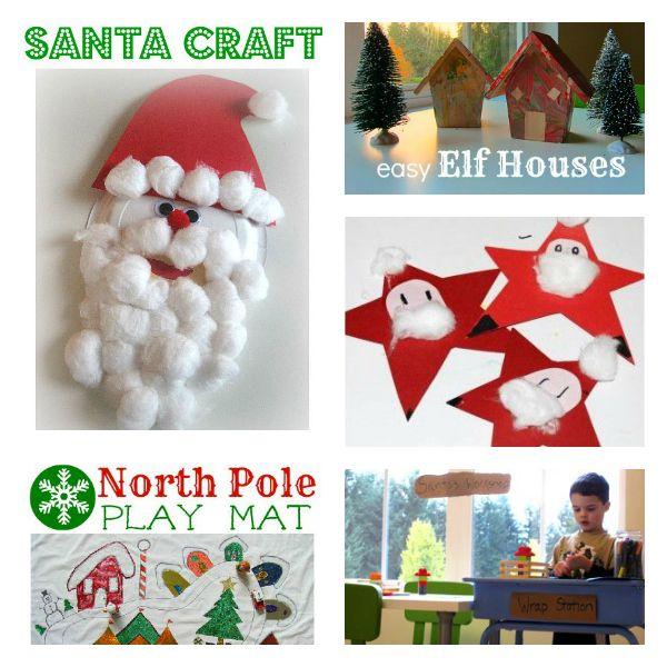 Santa crafts and activities for preschool