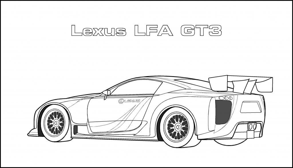 Sports Car Coloring Pages Lexus Lfa Gt3 Dengan Gambar