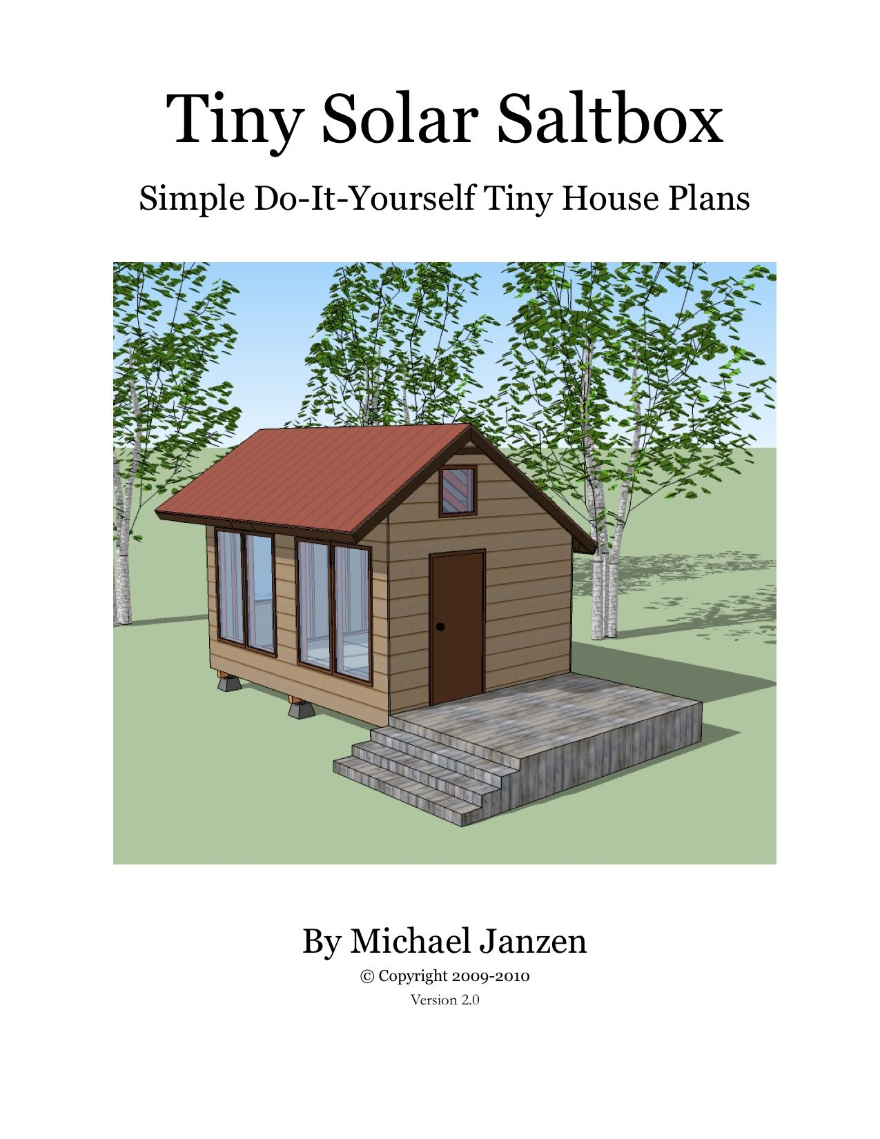 Small House Plans Tiny Solar Saltbox cover – Tiny House Design