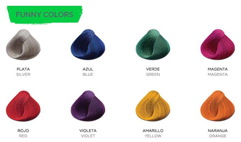 Gama de colores de cabello kuul