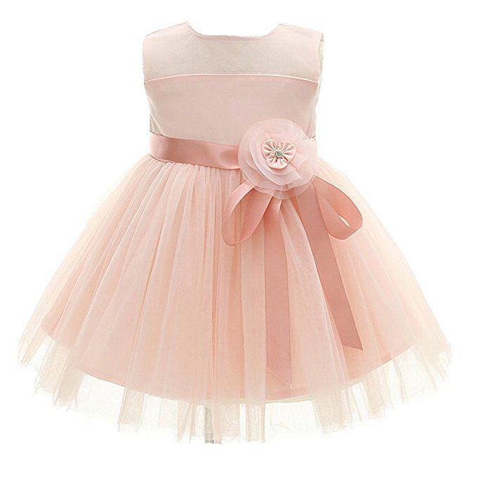 Rosa Baby Mädchen Prinzessin Kleider Blumenmädchen Kleid ...