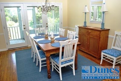 Dining Area At Barefoot Days   Beach House Located At North Litchfield  Beach In Pawleys Island