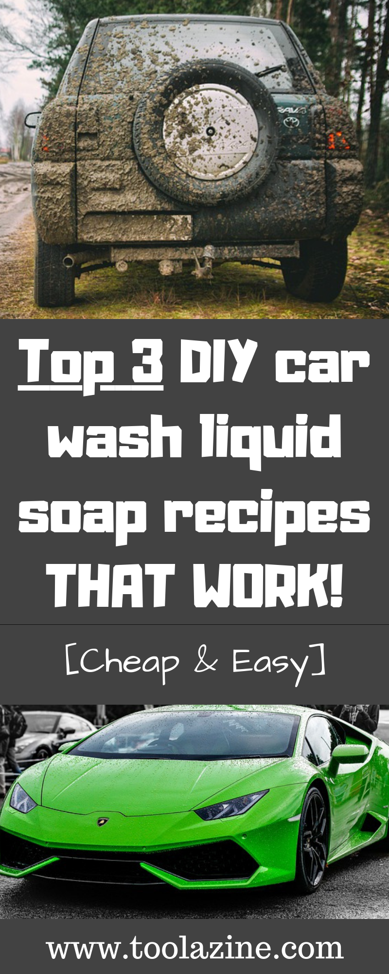 Top 3 DIY car wash liquid soap recipes THAT WORK [Cheap & Easy] #cleaningcars