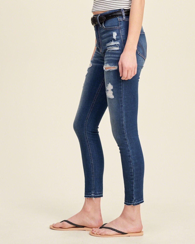 dark wash hollister jeans