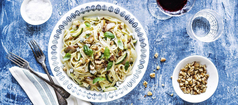 Gorgonzola-päärynäpasta