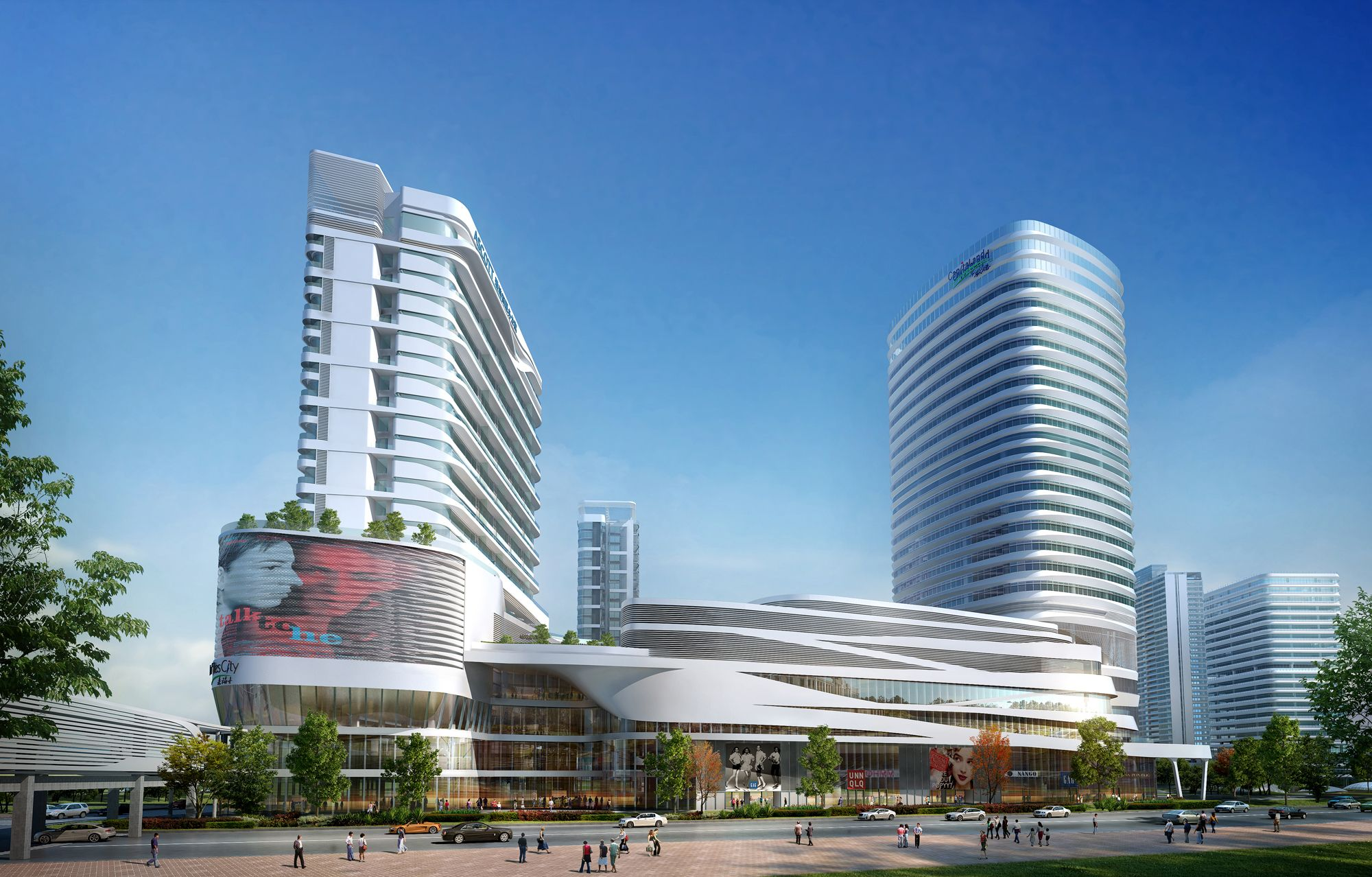 Raffles city shenzhen china located in the nanshan for Inodoro city