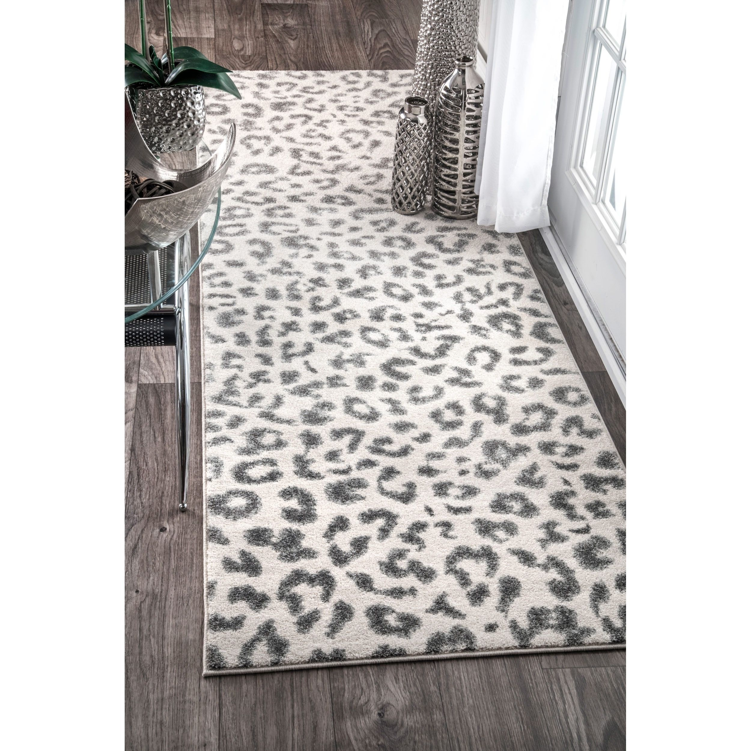 Leopard Spotted Area Rug