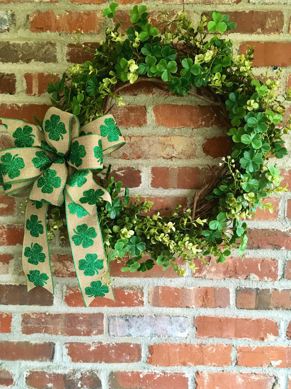 Photo of Clover wreath; all green wreath; St. Patrick & # 39; s Day decor; Spring farmhouse wreath; Spring green wreath; Shamrock decor