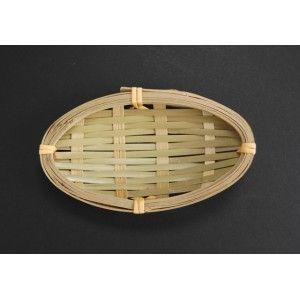 Bamboe mandje ovaal gevlochten 3- 10x5cm