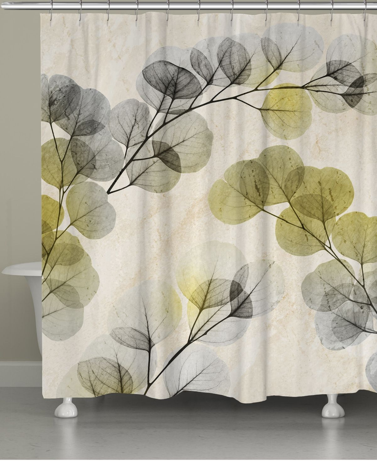 Laural Home Smoky X Ray Of Eucalyptus Leaves Shower Curtain