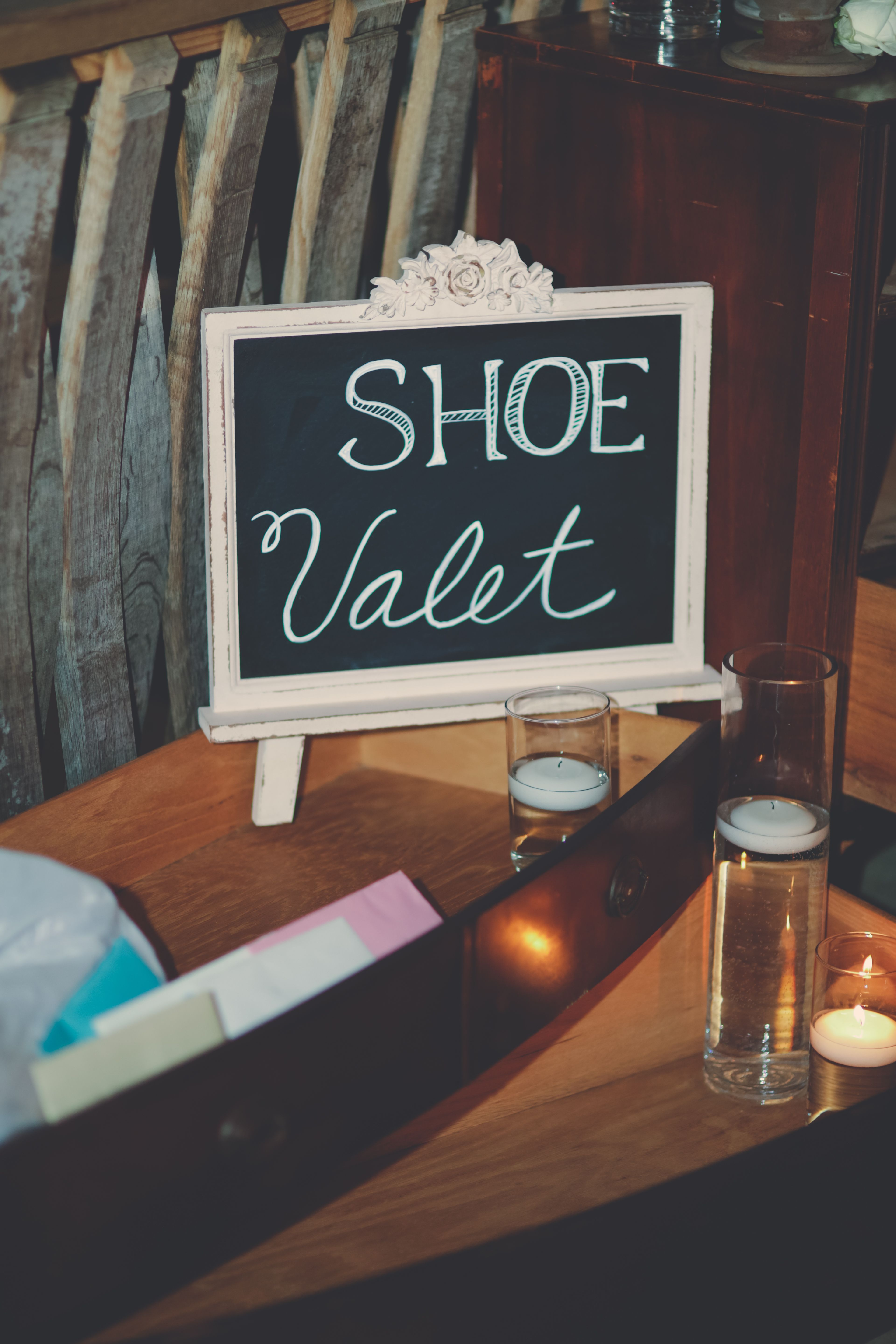 Have a cute designated area near your dance floor so your guests to can kick off their heels and dance!  Wedding and decor by Southern Event Planners.  Photo by Natasha Durham Photography