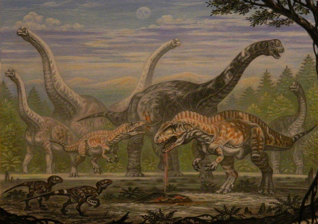 Acrocanthosaurus (Sauroposeidon, Astrodon) by ABelov2014.deviantart.com on @DeviantArt