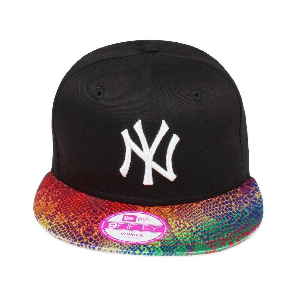 New Era Visor Snake Rainbow New York Yankees Snapback 9fifty Woman New York Yankees Snapback New Era