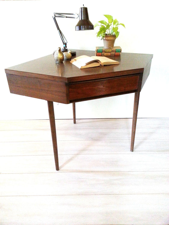 broyhill mid century modern corner desk vintage walnut desk broyhill mid century modern corner desk vintage walnut desk eames era home decor
