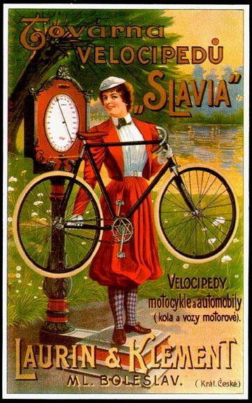 "CZECH BICYCLE ADVERTISEMENT POSTER ""SLAVIA"""