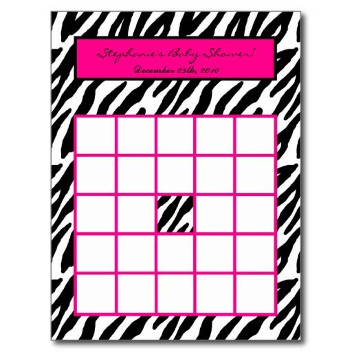 pink and zebra templates free | free download baby shower gift, Birthday invitations