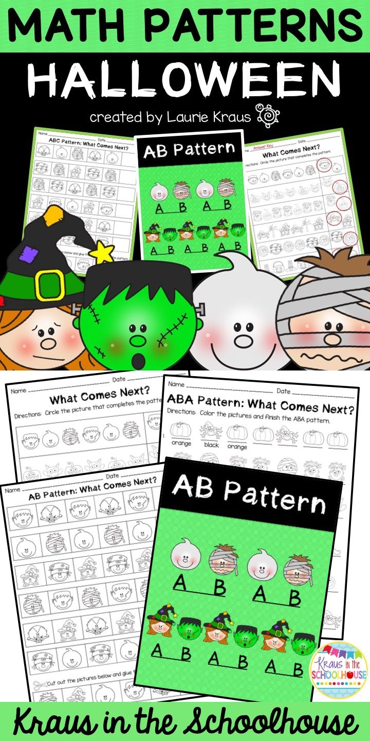 Are You Teaching Your Students How To Create And Identify Patterns These Activity Sheets And Poste Math Patterns Halloween Classroom Activities Fun Worksheets [ 1440 x 720 Pixel ]