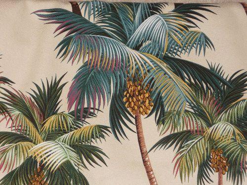 Tropical Hawaiian 100 Cotton Barkcloth Upholstery Fabric Palm
