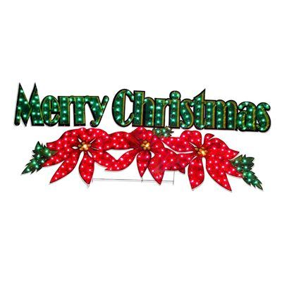 Holiday Living 2 3 Ft Merry Christmas Outdoor Christmas Decoration Merry Christmas Sign Navidad Christmas Decorations Merry Christmas Decoration