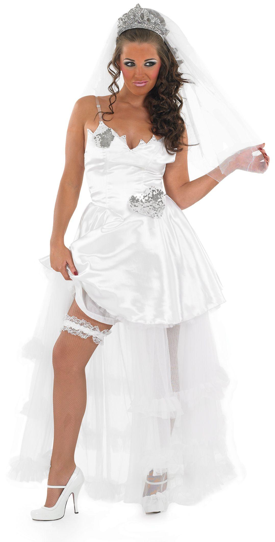 Fat Gypsy Bride White Wedding Fancy Dress Las Hen Party Womens Costume