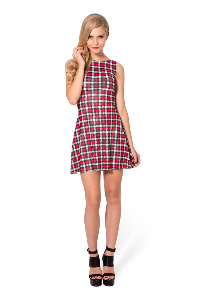 47b55c1351eb1 Play dress! Love the cut! Gingham Red Green Play Dress by Black Milk ...