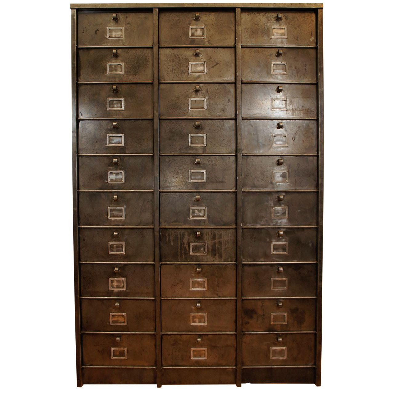 french industrial metal cabinet 30 drawers