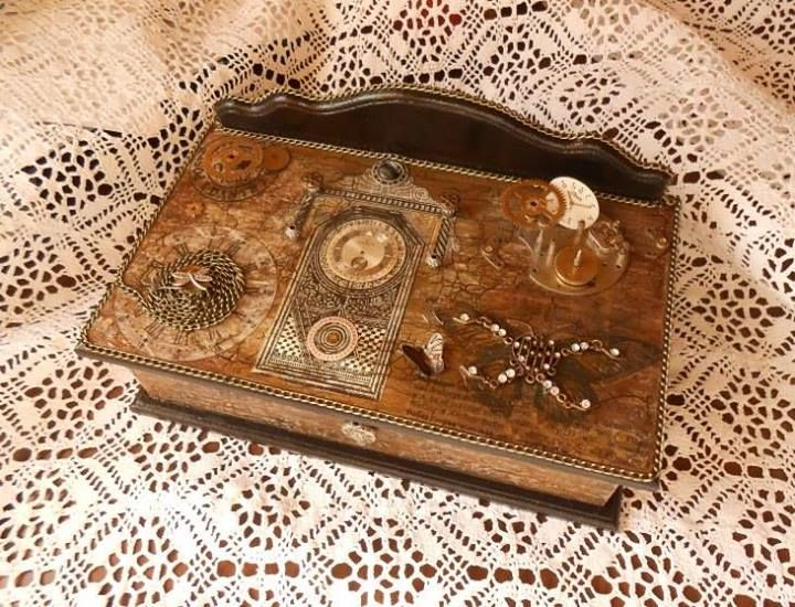 Steampunk jewelry box made by httpswwwfacebookcom
