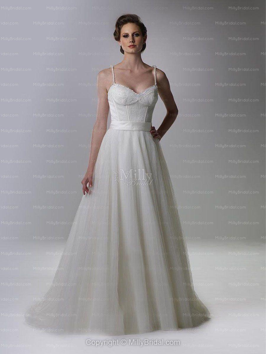 Simple wedding dress with spaghetti straps dress ups pinterest
