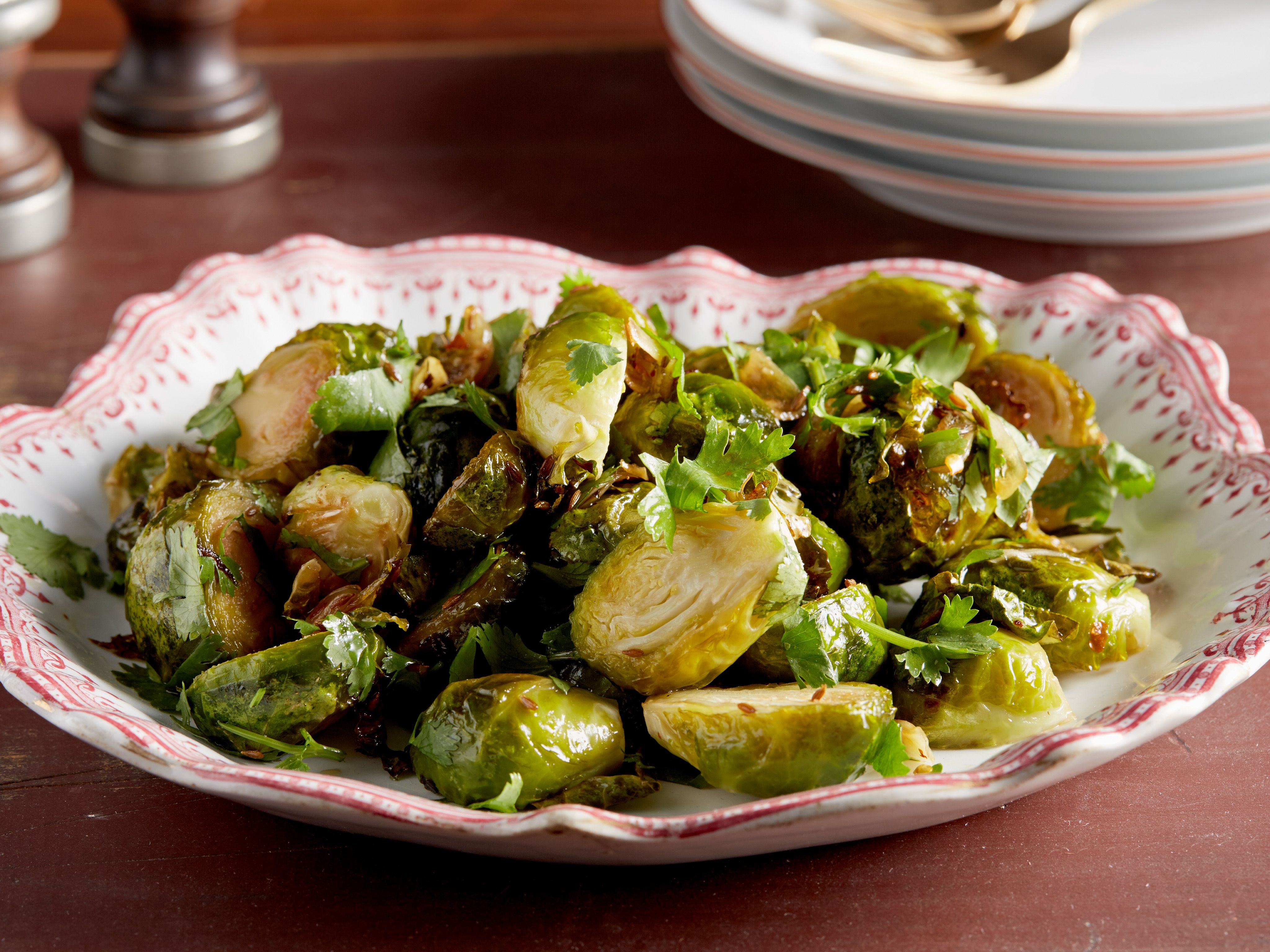 Get this all star easy to follow roasted garlic brussels sprouts roasted garlic brussels sprouts recipe food network kitchen food network cumin lemon juice and cilantro invigorate brussels sprouts mellow flavor in forumfinder Gallery