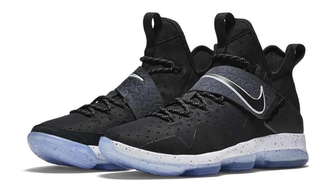 Images and release for the Nike LeBron 14 Black Ice, the scheduled February  release of LeBron James' newest sneaker.