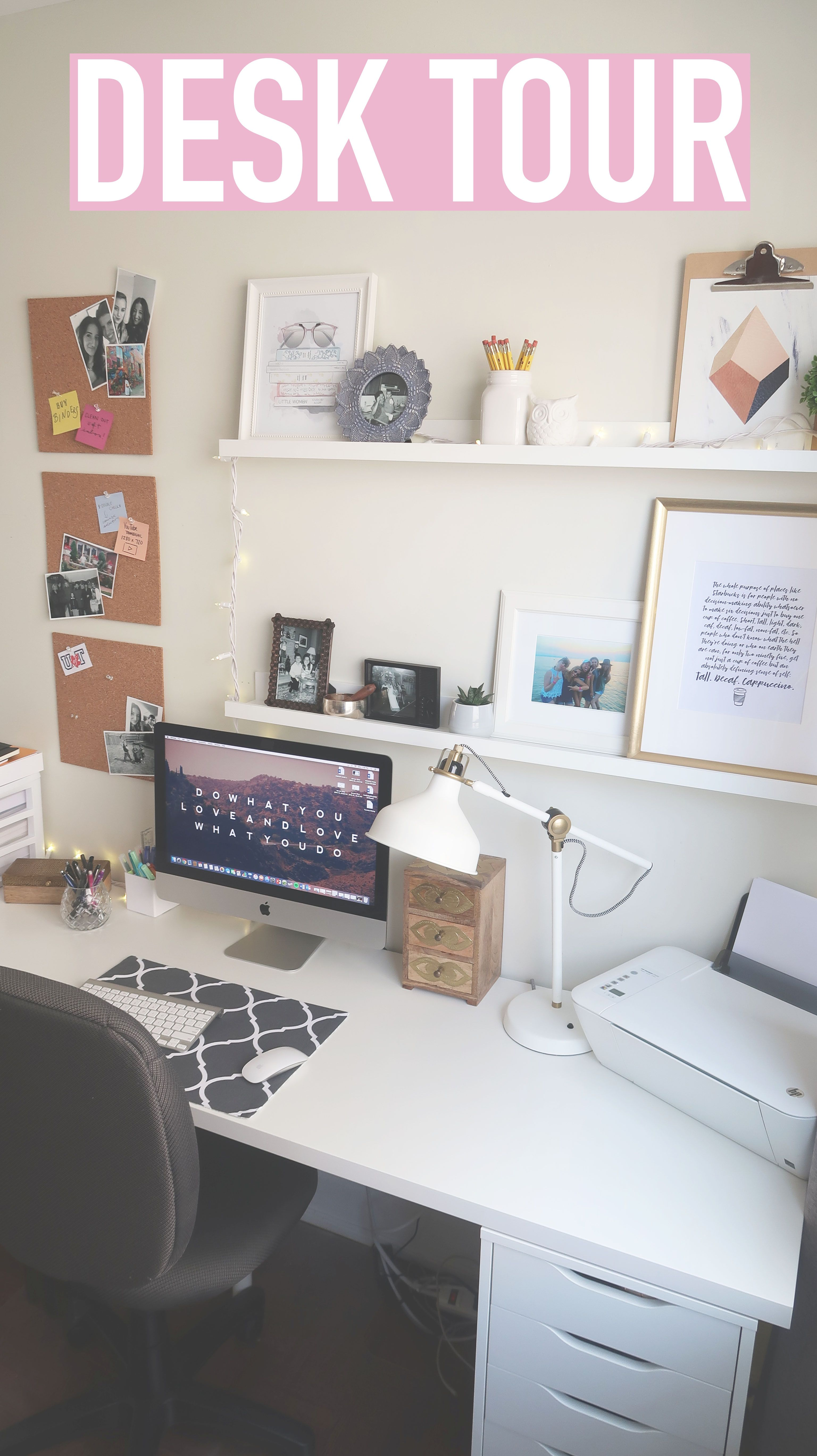 Desk Tour How To Organize Your Desk Tips Decor Bedroom Desk Organization Small Desk Organization Desk Organization College