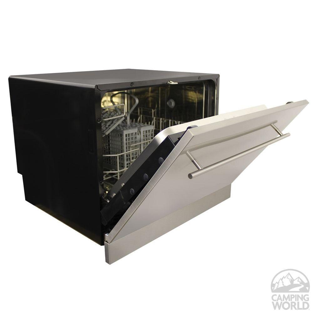 Vesta built in dishwasher rv hints ideas built in - Portable dishwasher stainless steel exterior ...